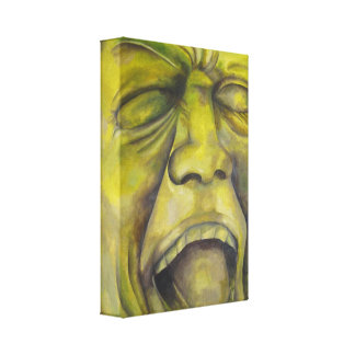 Contemporary portrait painting - Roller Coaster Canvas Print