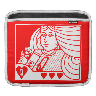 Contemporary Queen of Hearts iPad Sleeve (red)