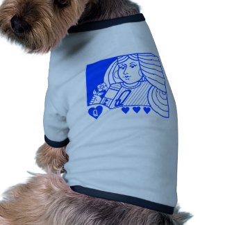 Contemporary Queen of Hearts Pet Clothing (blue)