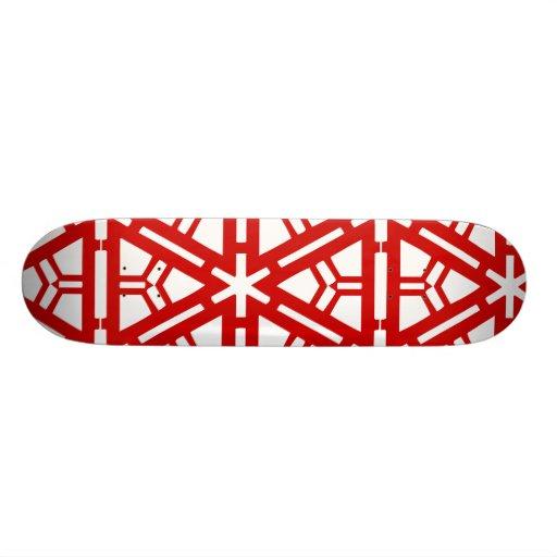 Contemporary Red Art Skate Decks