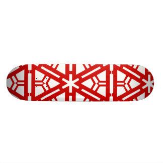 Contemporary Red Art Skateboard Deck