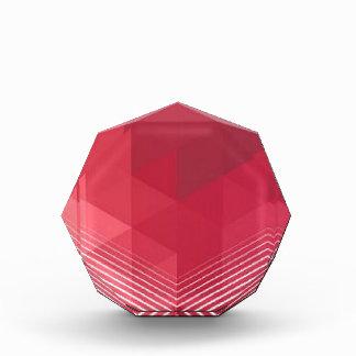 Contemporary Red Geometry Design Award