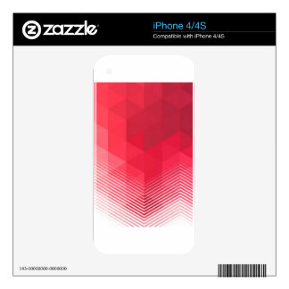 Contemporary Red Geometry Design iPhone 4 Skin