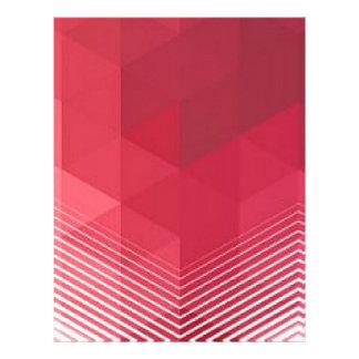 Contemporary Red Geometry Design Letterhead