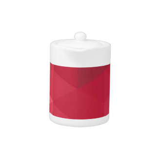 Contemporary Red Geometry Design Teapot