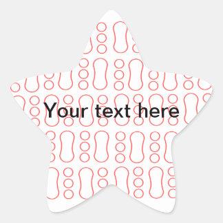 Contemporary red peanut pattern star sticker