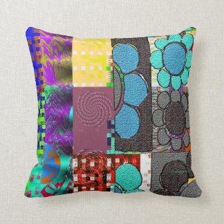 Contemporary: Retro Pop Art Style Throw Pillow