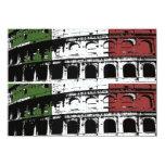Contemporary Roman Coliseum 2x6 Custom Cards Personalized Invitation