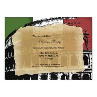 """Contemporary Roman Coliseum Dinner Party Invite 5"""" X 7"""" Invitation Card"""