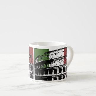 Contemporary Roman Coliseum Silhouette Espresso Cup