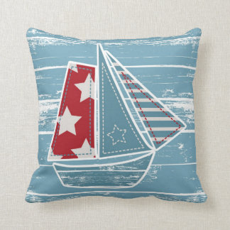 Contemporary Sailing Boat Pillow Style 3