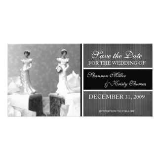 Contemporary Save the Date Announcement Photo Card