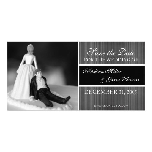 Contemporary Save the Date Announcement Customized Photo Card