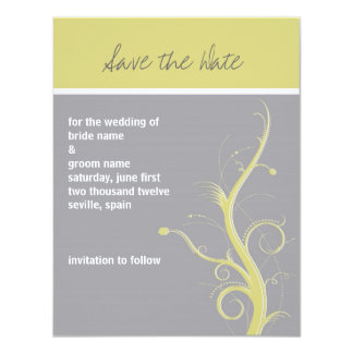 Contemporary Save the Date Card