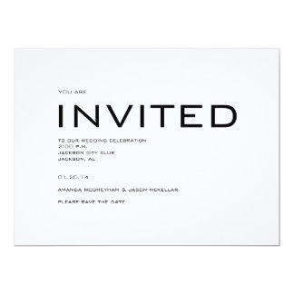 Contemporary Save the Date invitation