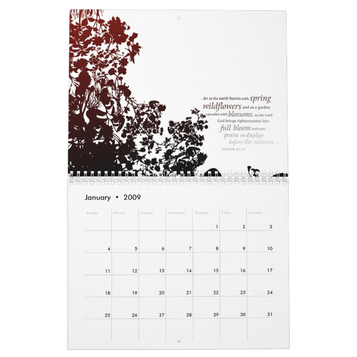 Contemporary Art Calendar Uk : Contemporary scripture art calendar zazzle