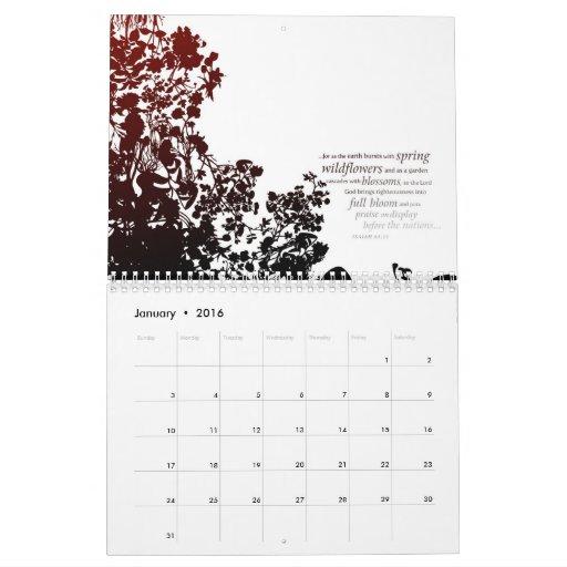 Contemporary Scripture Art Calendar