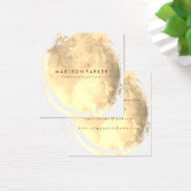 Contemporary Sepia Watercolor Brushed Square Business Card