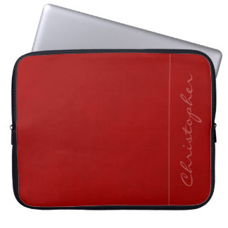 * Contemporary Signature Mottled Red Computer Sleeve