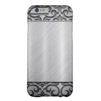 Contemporary Silver Metallic Swirl Case iPhone 6 Case