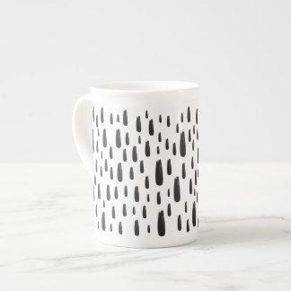 Contemporary spotty owl pattern bone china mug