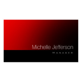 Contemporary Standard Red Black Business Card
