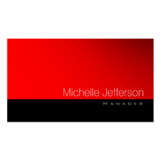 Contemporary Standard Red Black Gray Business Card