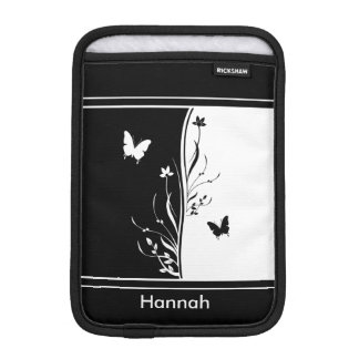 Contemporary striking Black and white nature inspi iPad Mini Sleeves