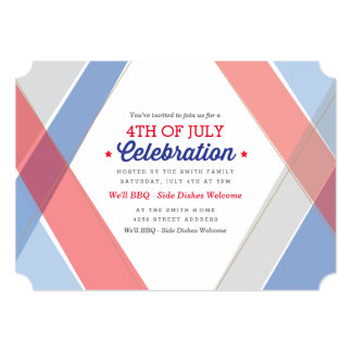 Contemporary Stripes July 4th Invite
