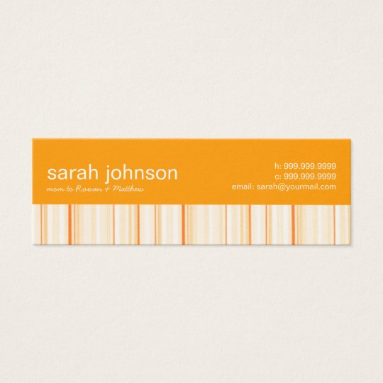 Contemporary Stripes Mommy Calling Card