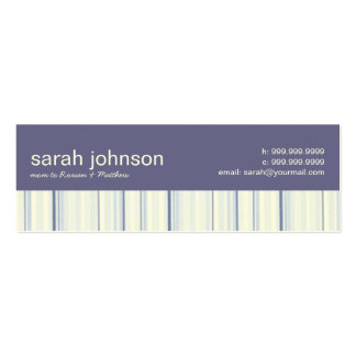 Contemporary Stripes Mommy Calling Card Business Card