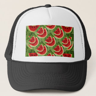 CONTEMPORARY SUCCULENT RED WATERMELONS TRUCKER HAT