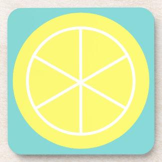 Contemporary Summer Citrus / Teal / Lemon Florida Coasters