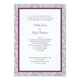 Contemporary Swirl Wedding Invite