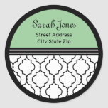 Contemporary Traditions Luxury Address Label Round Sticker