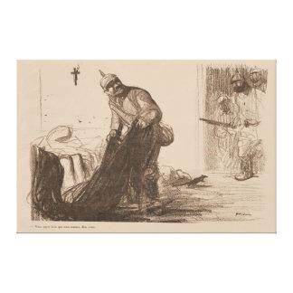 "Contemporary ""Tragic Casulties"" 1916 - WW1 Canvas Print"