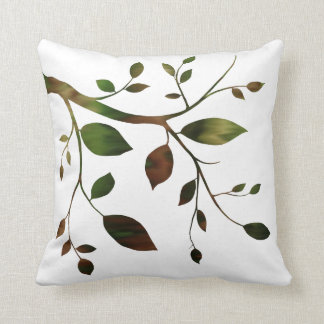 Contemporary Tree Branch Throw Pillow