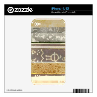 Contemporary Tribal Pattern Painting Decals For The iPhone 4
