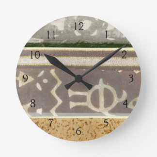 Contemporary Tribal Pattern Painting Round Clock