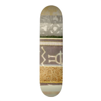 Contemporary Tribal Pattern Painting Skateboard