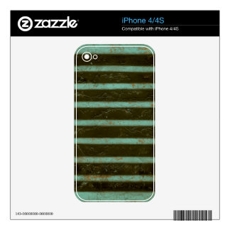 Contemporary Turquoise Air Grate iPhone 4 Skins