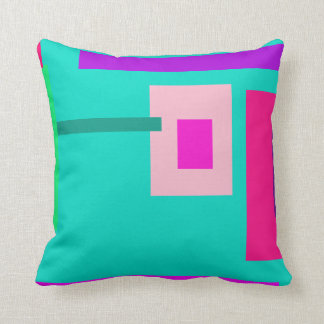 Contemporary Turquoise Throw Pillow