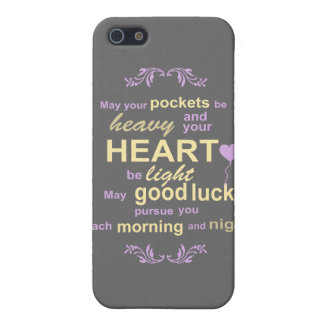Contemporary Typography Irish Blessing in Gray iPhone SE/5/5s Cover