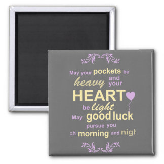 Contemporary Typography Irish Blessing in Gray Magnet