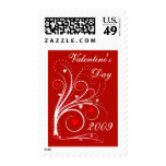 Contemporary Valentine's Day Custom Postage Stamp