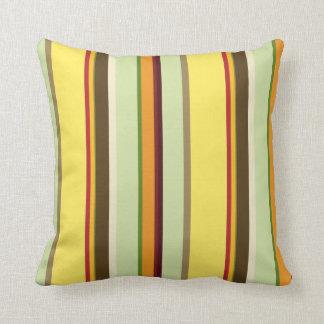 Contemporary Veggy Stripe Throws Pillow