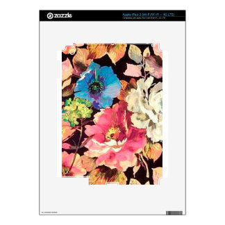 Contemporary Vintage Floral Print Design iPad 3 Decal