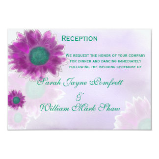 Contemporary Watercolor and Pen Floral Reception Card