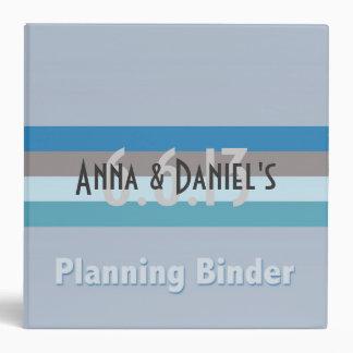 Contemporary Wedding Planning 3 Ring Binder