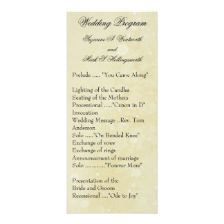 Contemporary Wedding Programs